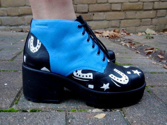 SUERTE  adaptacion de cuero zapatos de plataforma por OOTDStudio