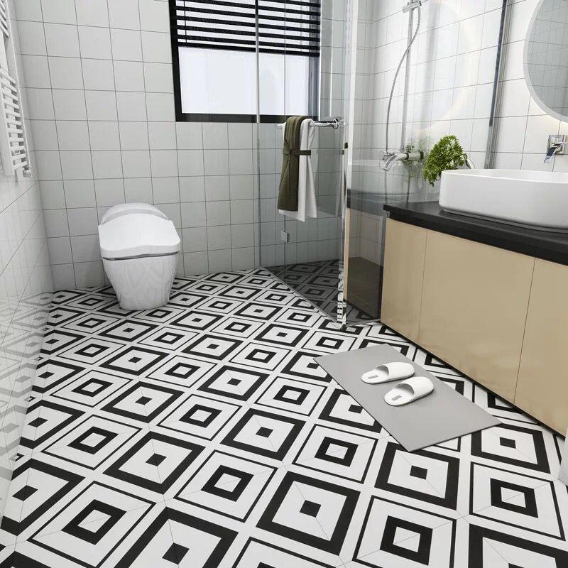 Top 7 Bathroom Flooring Trends For 2019 Tile The Flooring Girl Frames But White In A Bathr Bathroom Flooring Trends Flooring Trends Bathroom Trends