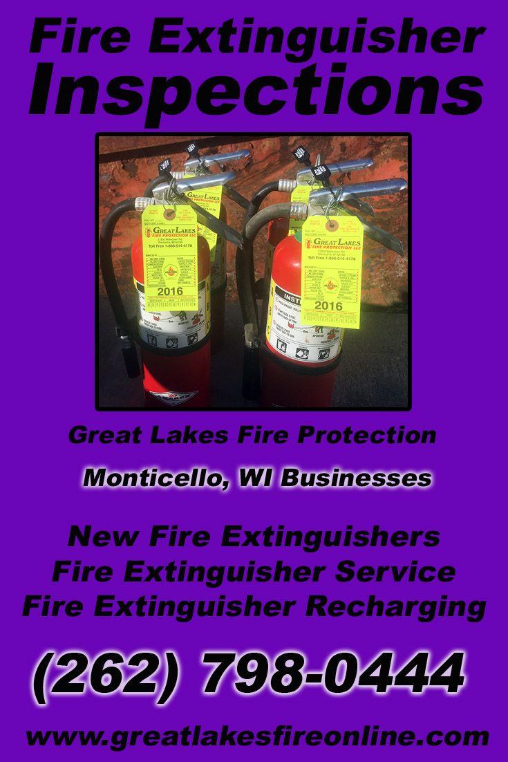 Fire extinguisher recharging monticello wi 262 798