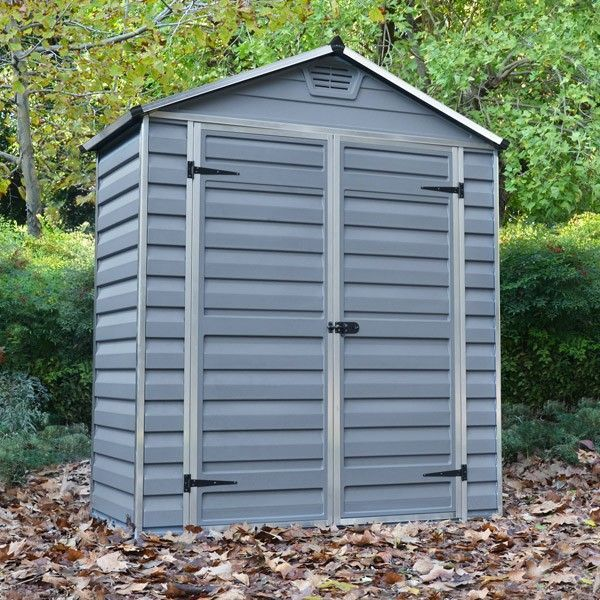 6 x 3 palram skylight plastic grey shed plastic sheds sheds