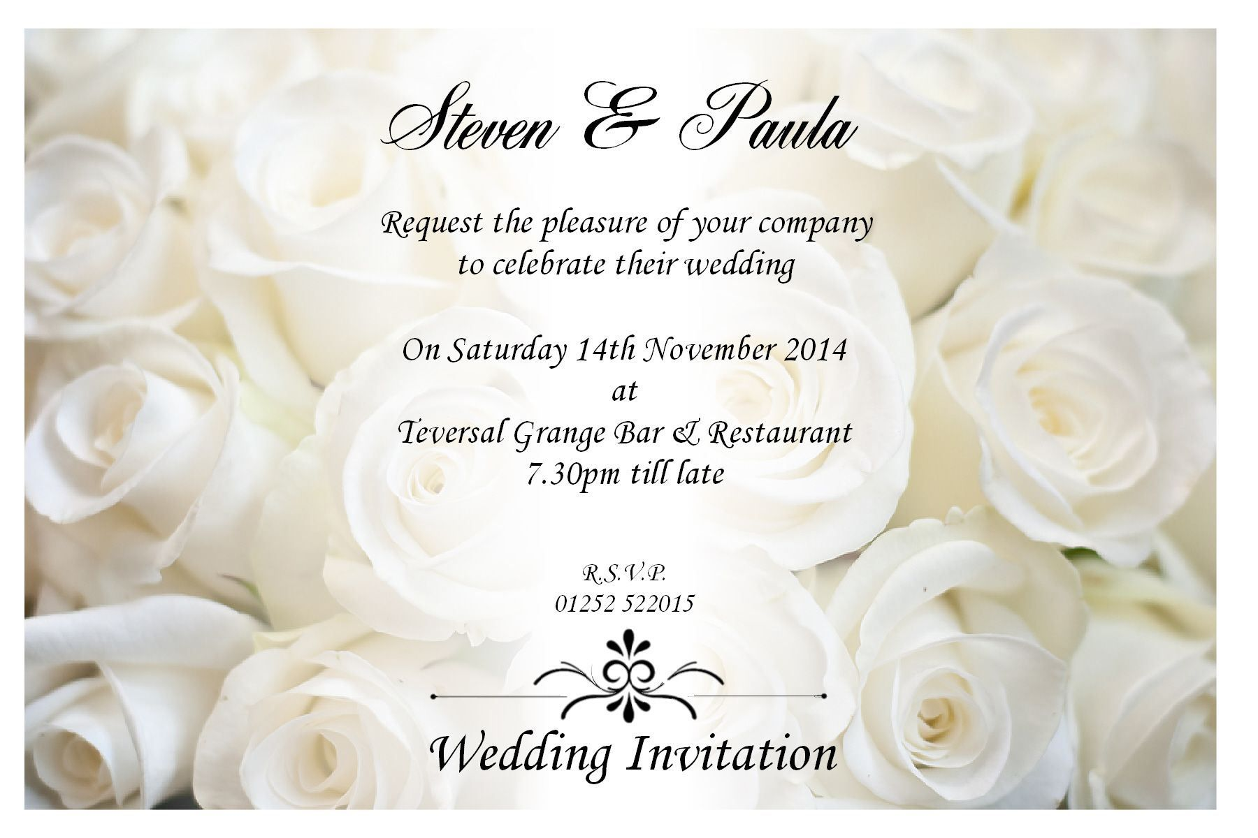 Sample wedding invitation by email wedding invitations for Wedding invitation cards nelspruit