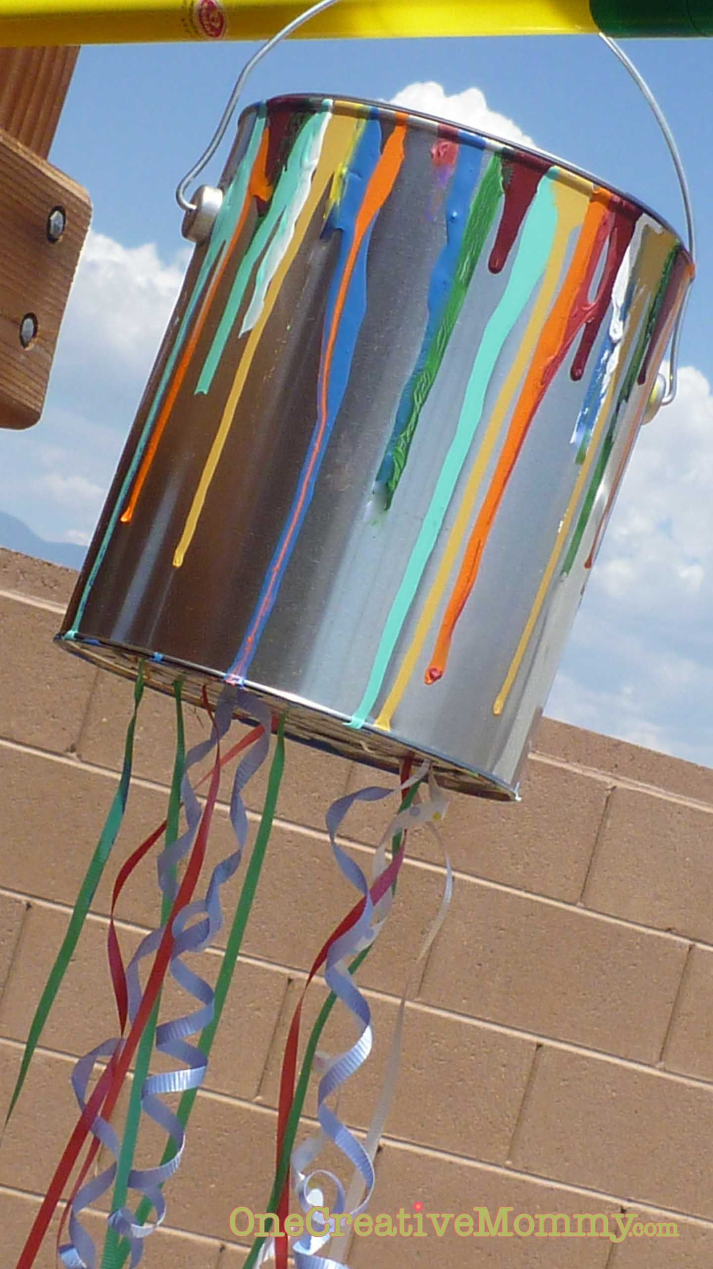 pull string paint can piñata tutorial party ideas pinterest