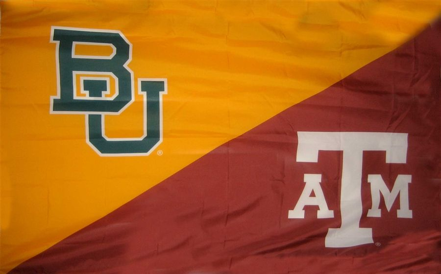 Baylor Texas A M House Divided Flag House Divided Flags House
