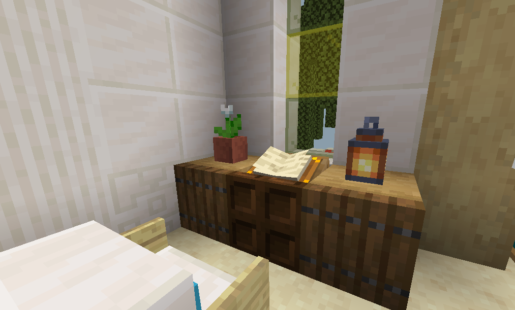 Cover The Base Of A Lectern To Make A Cute Desk Detailcraft Minecraft Designs Minecraft House Designs Minecraft Furniture