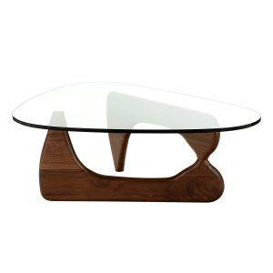 Isamu Noguchi Coffee Table With Dark Walnut Base http