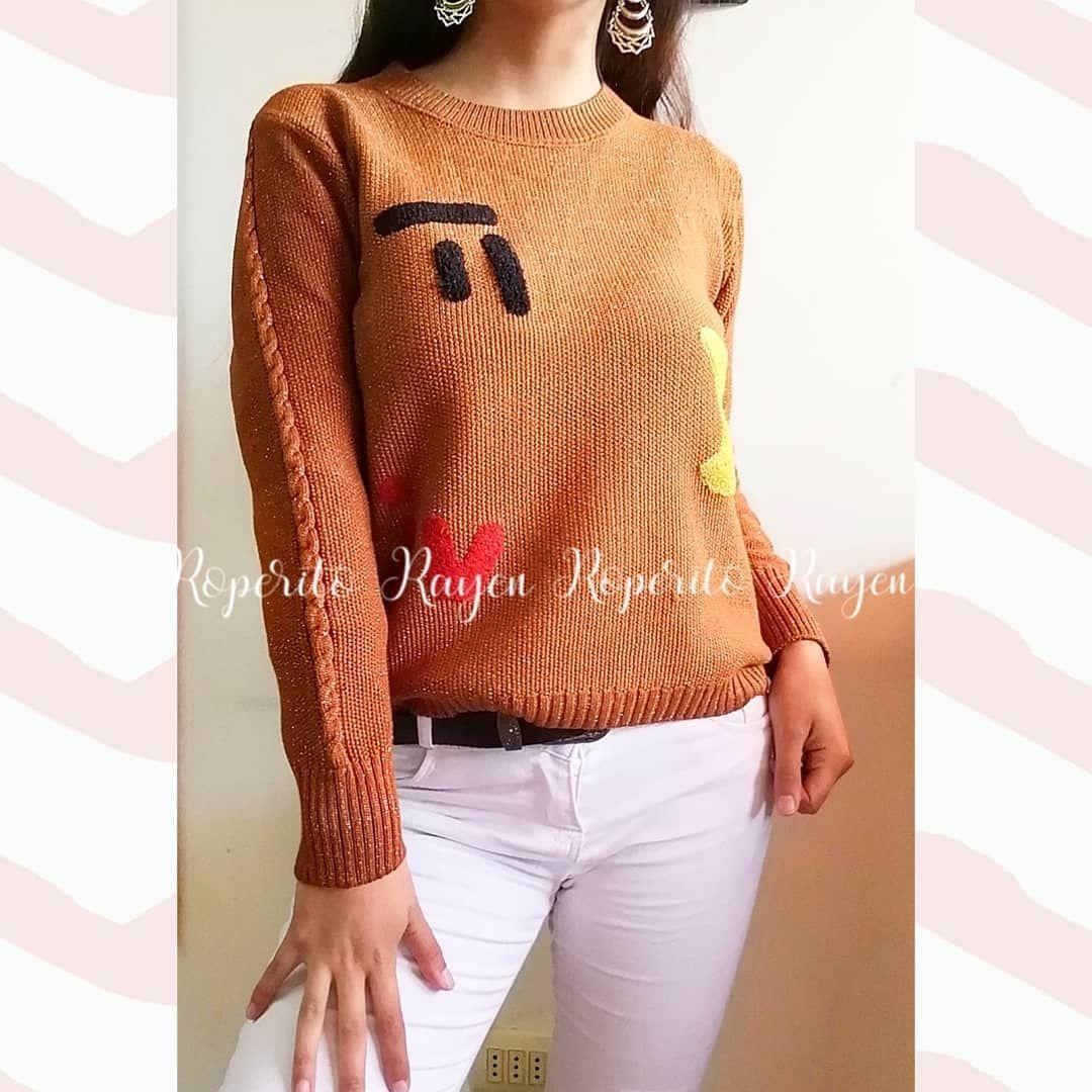 #Sweater #pacman Diseño de lana con detalles #lurex Tonos terracota y rojo. Relieves de lana en figuritas. Ideal para tallas s, m #roperitorayen #Bulnes #moda #enviosatodoelpais #tiendaonline #shopping #bulnescity #tiendanuevabulnes #apoyopyme #chile #Chillan #Cabrero #Quillon #Bulnes #moda #Santiago #LosAngeles