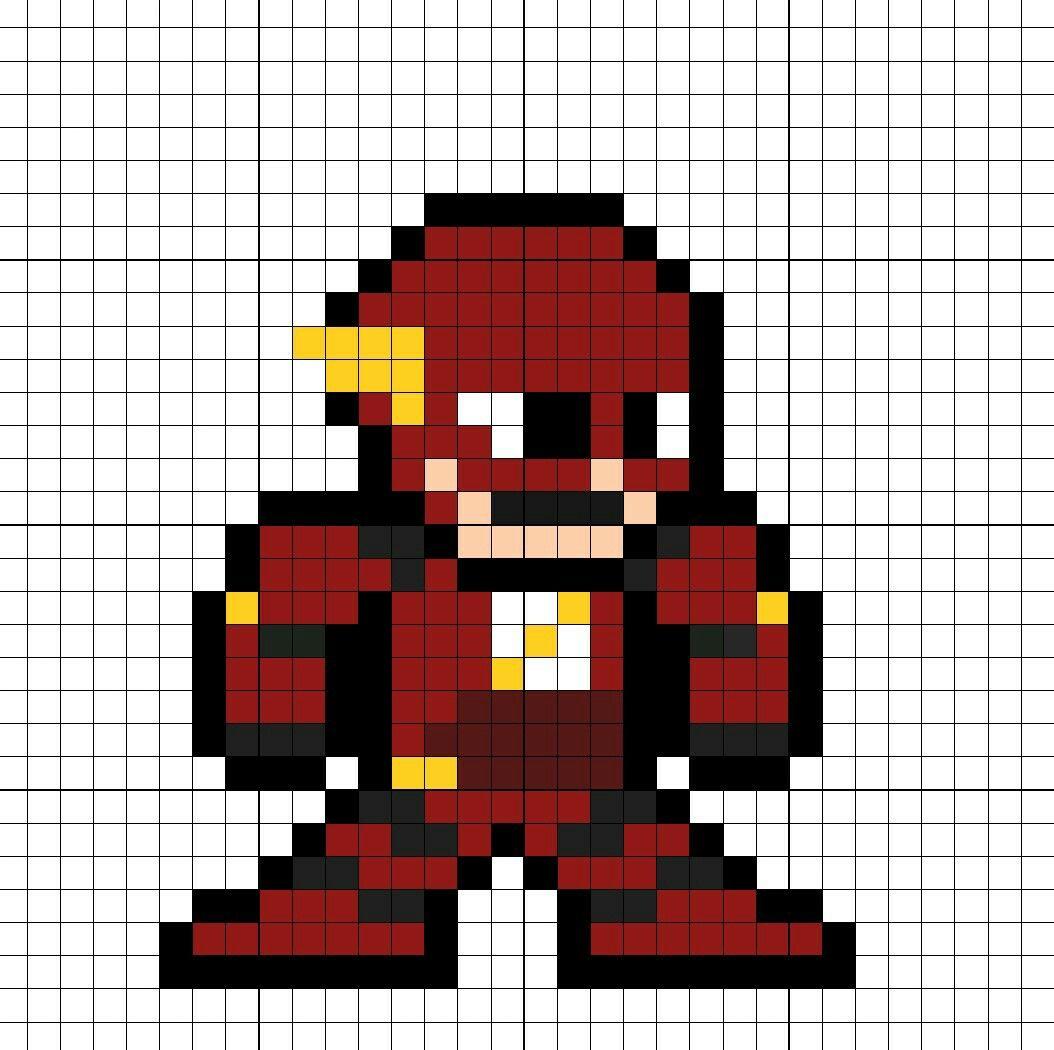 The Flash Dceu Minecraft Pixel Art Pixel Art Graph