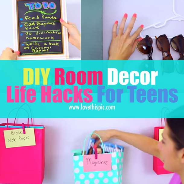 diy room decor life hacks for teens - Room Decor For Teens