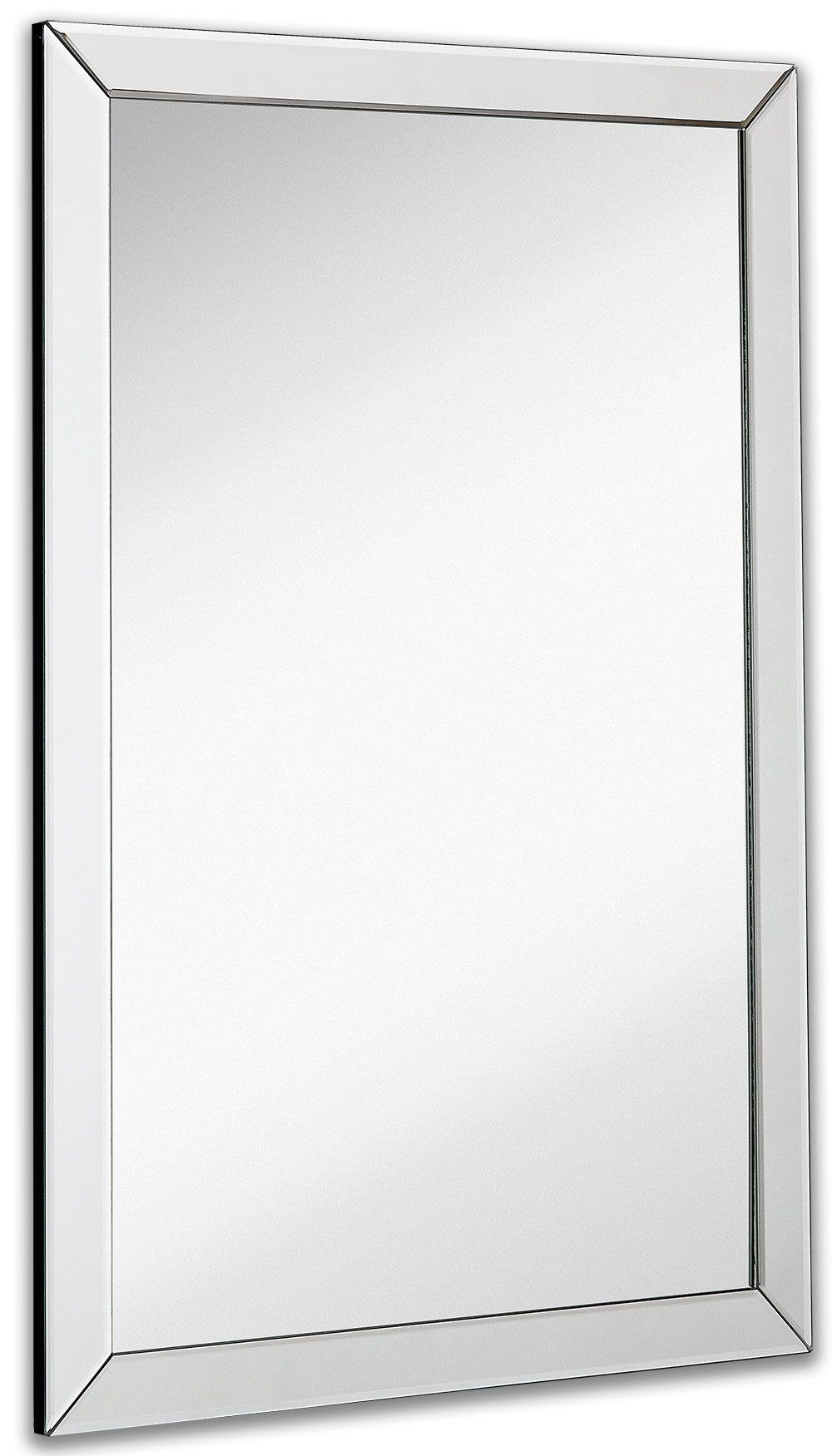 Large Flat Framed Wall Mirror With 2 Inch Edge Beveled Mirror Frame Premium Silver Backed Glass Pan Framed Mirror Wall Frames On Wall Beveled Mirror Bathroom