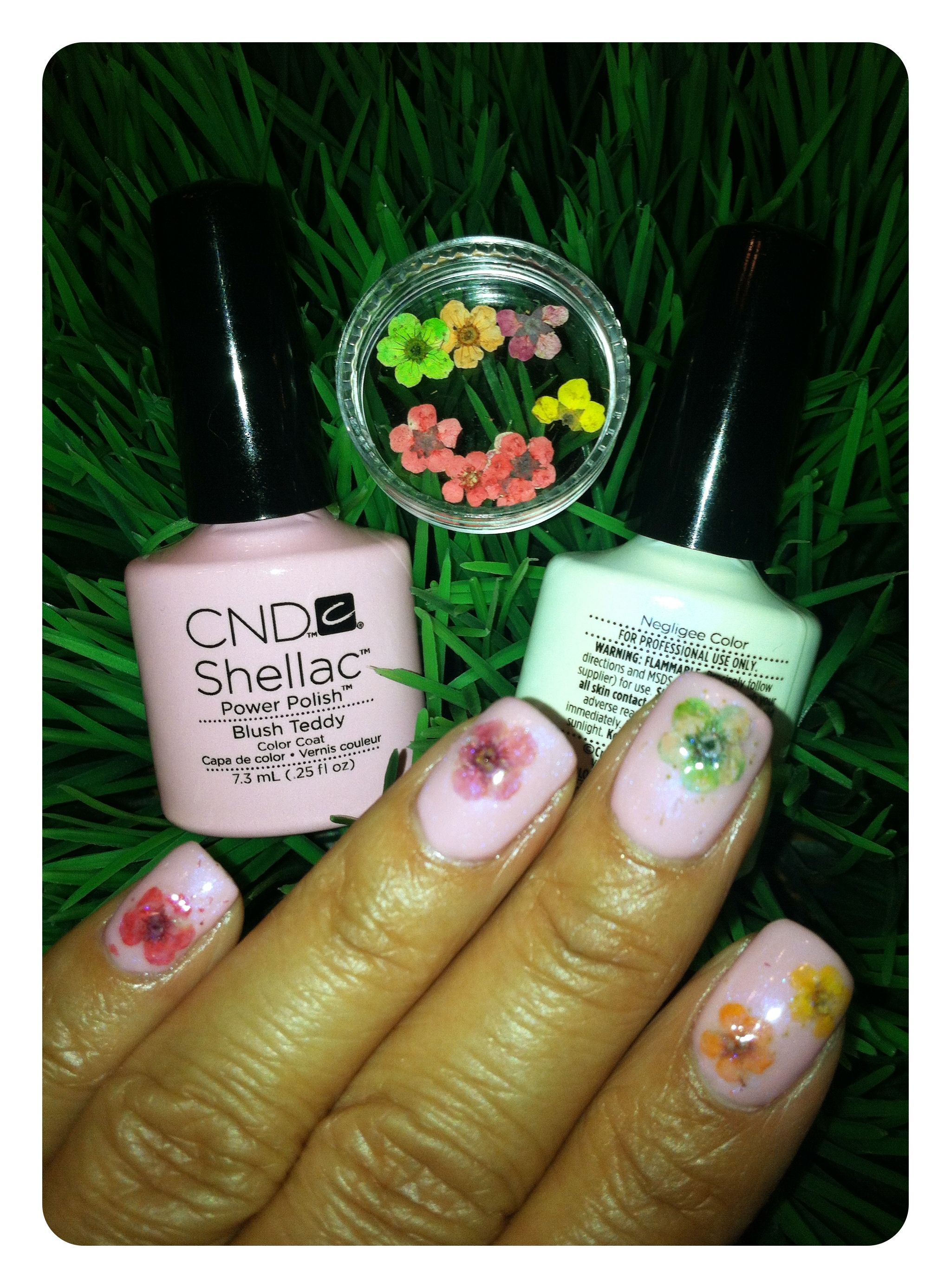 Spring Nails CND Shellac Layered From Bottom To Top Blush Teddy 2 Coats