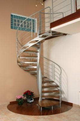 escaleras interiores pasamanos techos escalera caracol espacios pequeos futura casa decoracin hogar cemento concepto