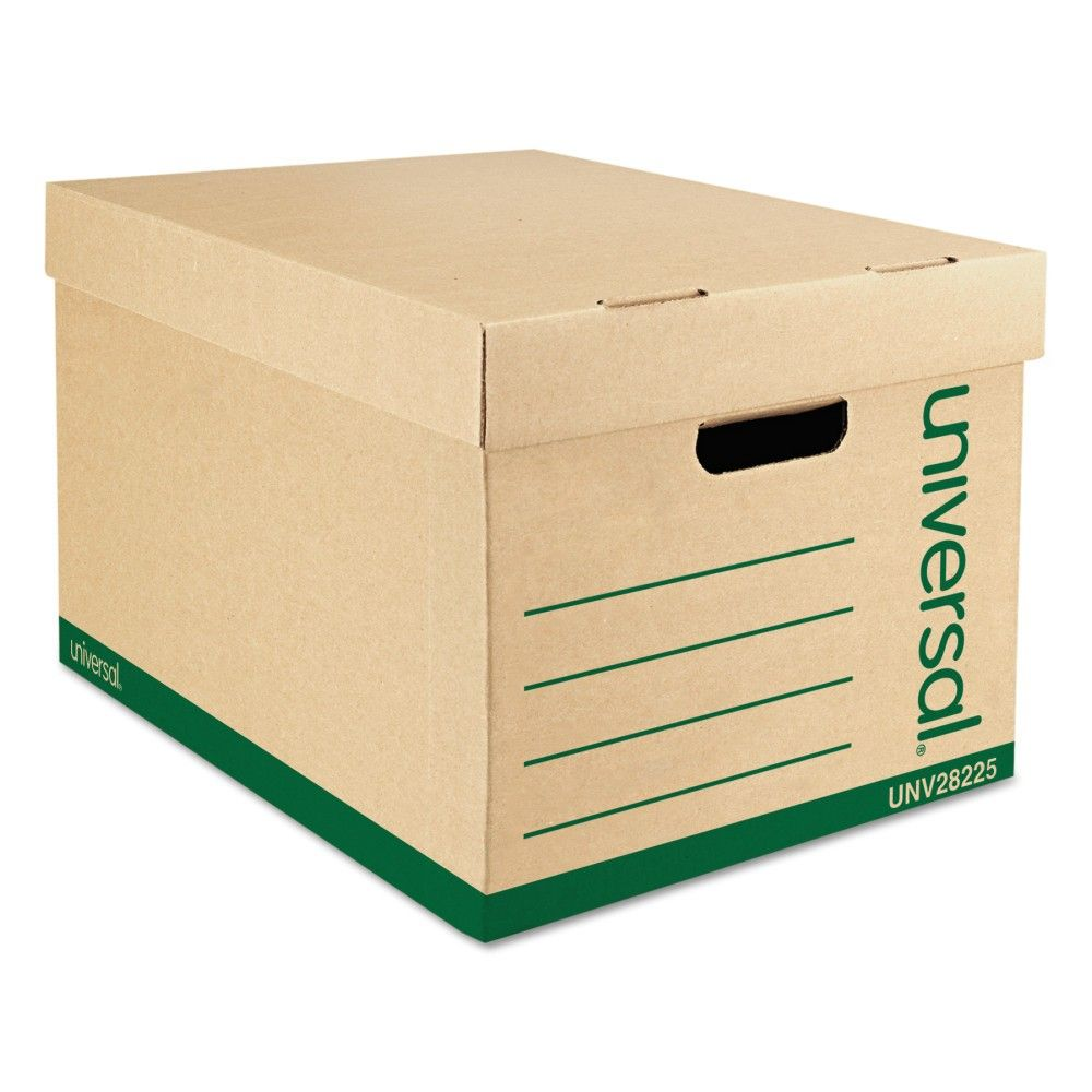 Universal Recycled Record Storage Box Letter Legal 12 X 15 X 10 Kraft 12 Carton 28225 In 2020 Record Storage Box Record Storage Recycling Storage