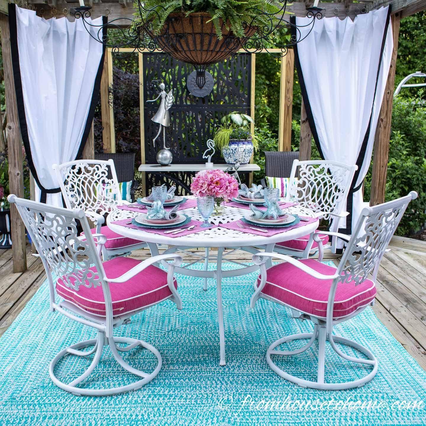 Palm Beach Chic Deck Makeover The Reveal Beach Chic