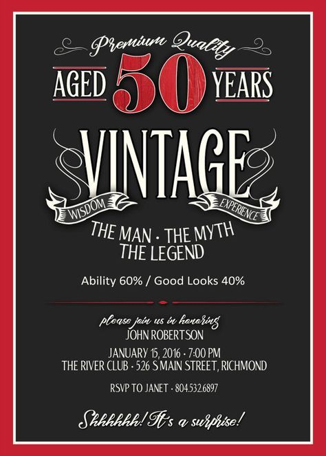 50th birthday invitation for men jpeg printable aged to 50th birthday invitation for men jpeg by justartinaround on etsy bookmarktalkfo Image collections