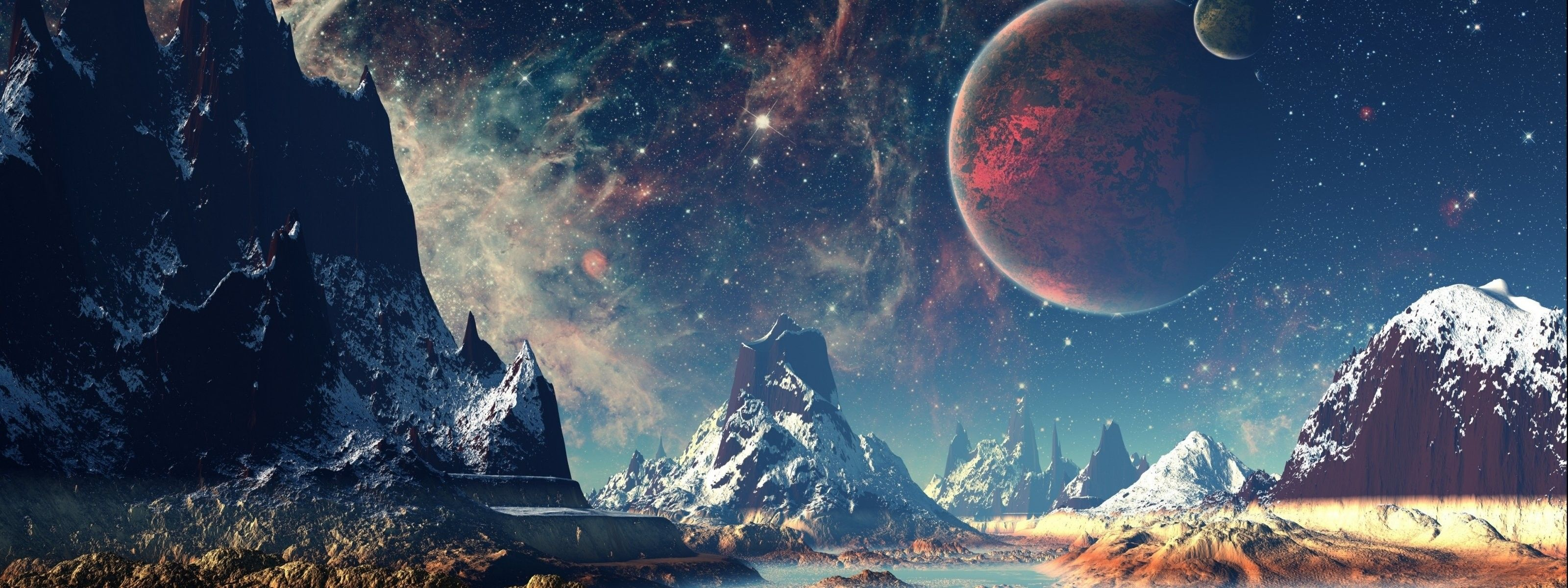 3200x1200 Dual Monitor Wallpapers Space (62+ background