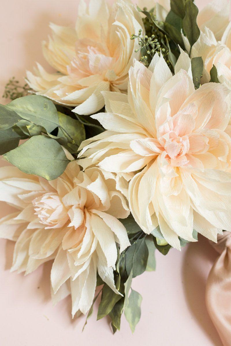 How To Make Paper Flowersappetitepapercafe Au Lait Dahlia