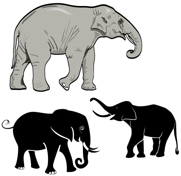 Free Elephant Vector Art Elephant Images Vector Art Art
