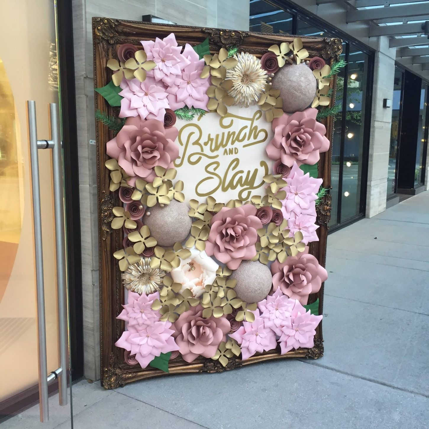 Paper flower wall rental pictures paper flower wall for Baby shower wall decoration