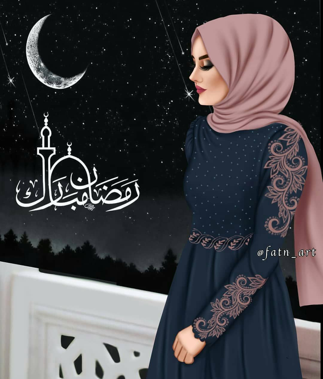 تحبون الرمضان Fashionyista Fashionyista صور كارتونية للحلوات منشن لصديقاتك تشوفهن معك خلفيات Muslim Women Fashion Girl Hijab Islamic Girl
