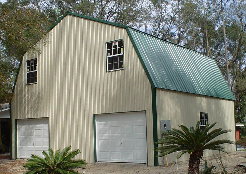 Steel frame gambrel type homes starting from 19 950 hq for Gambrel style steel building