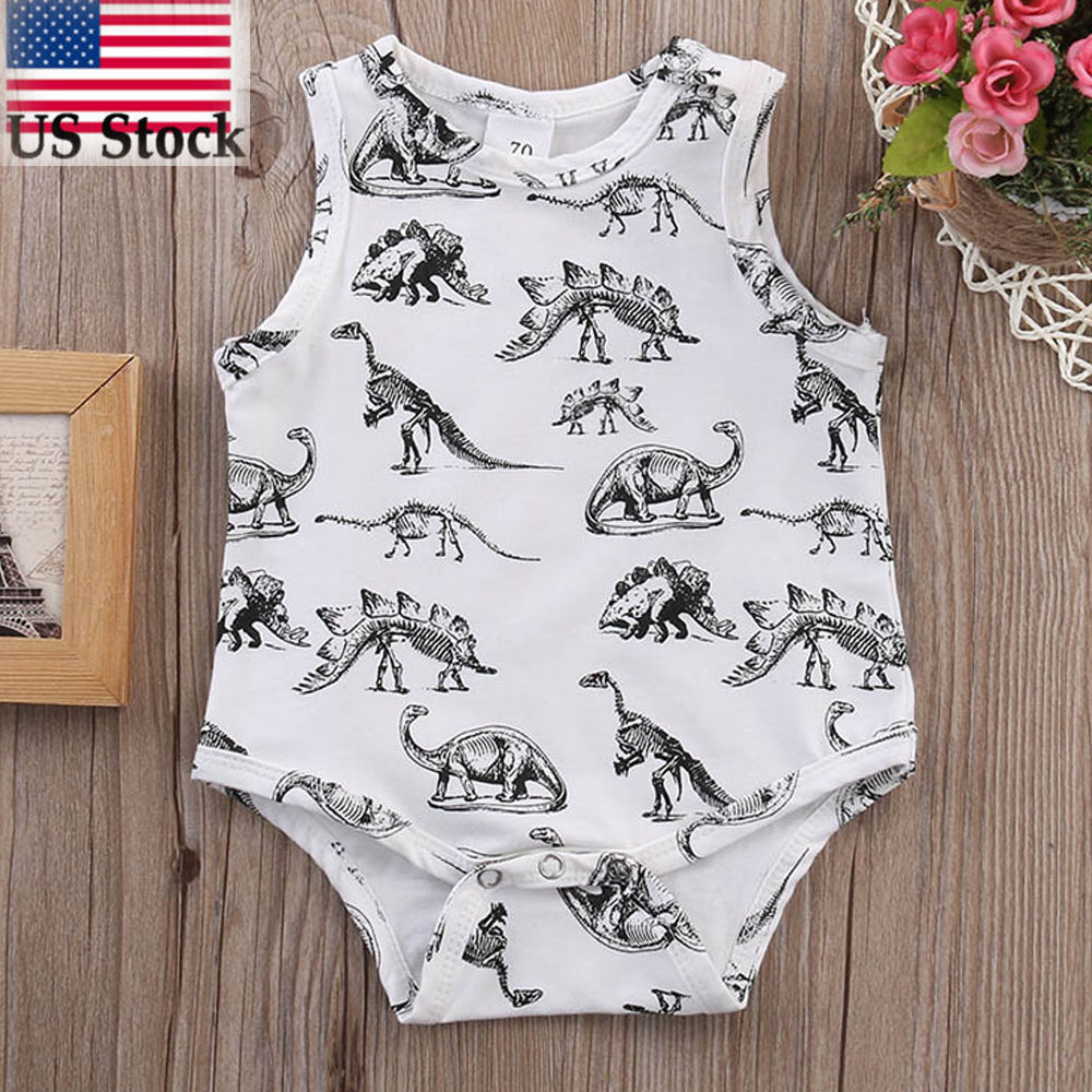 12d5041f2 Dinosaur Newborn Infant Kids Baby Boys Girls Jumpsuit Romper Outfits  Clothes US #Unbranded #Occident #Casual