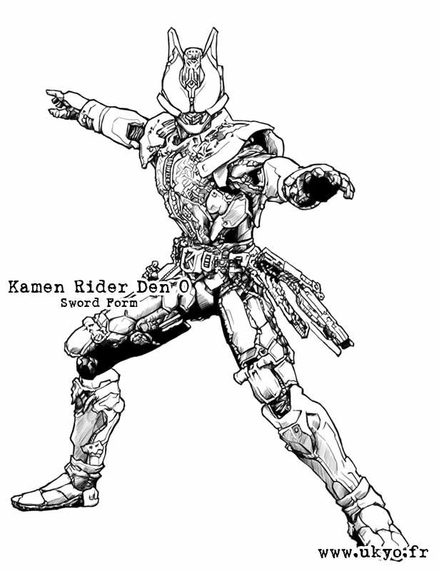 Another Custom Inking From Sic Version Of Kamen Rider Den O Liner