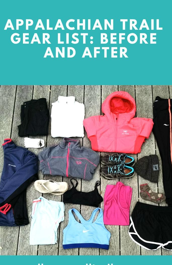 Photo of Appalachian Trail Gear List Before and After – All Women All Trails