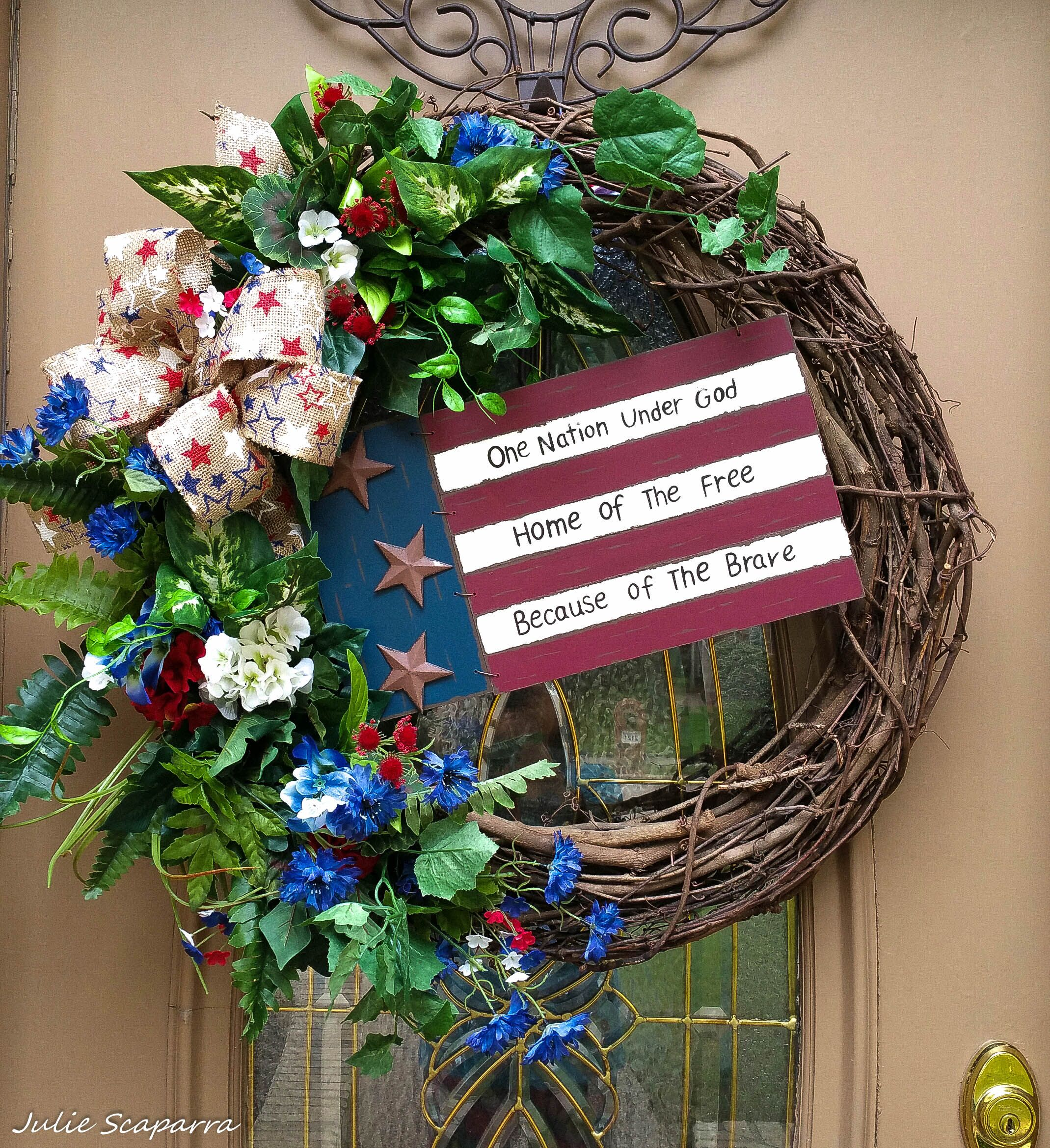 4th of July Wreath for my front door.