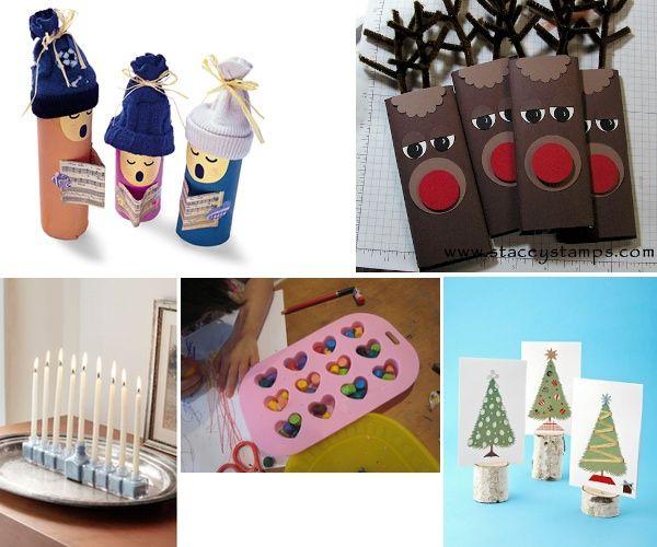 Bricolage Bambini ~ Decorazioni e segnaposto per natale fai da te con i bambini