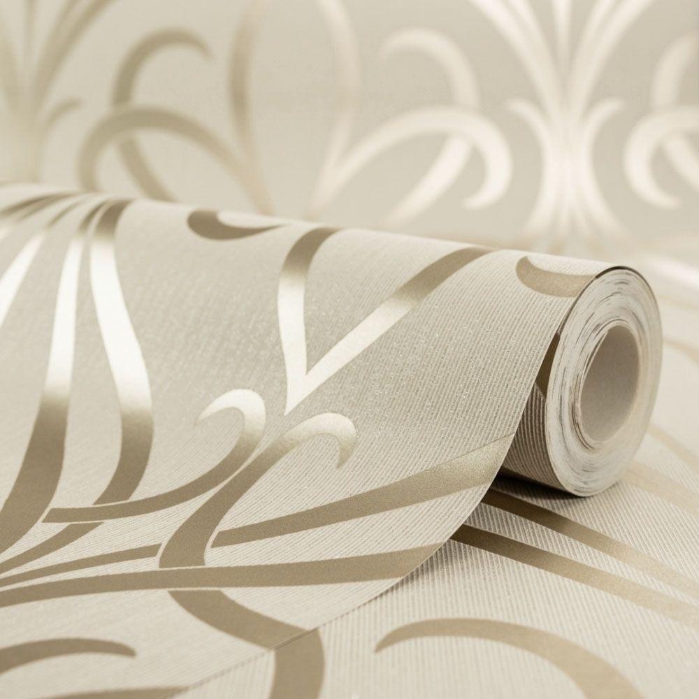Camden Damask Wallpaper Cream Gold Cream And Gold Wallpaper Damask Wallpaper Gold Bedroom Decor