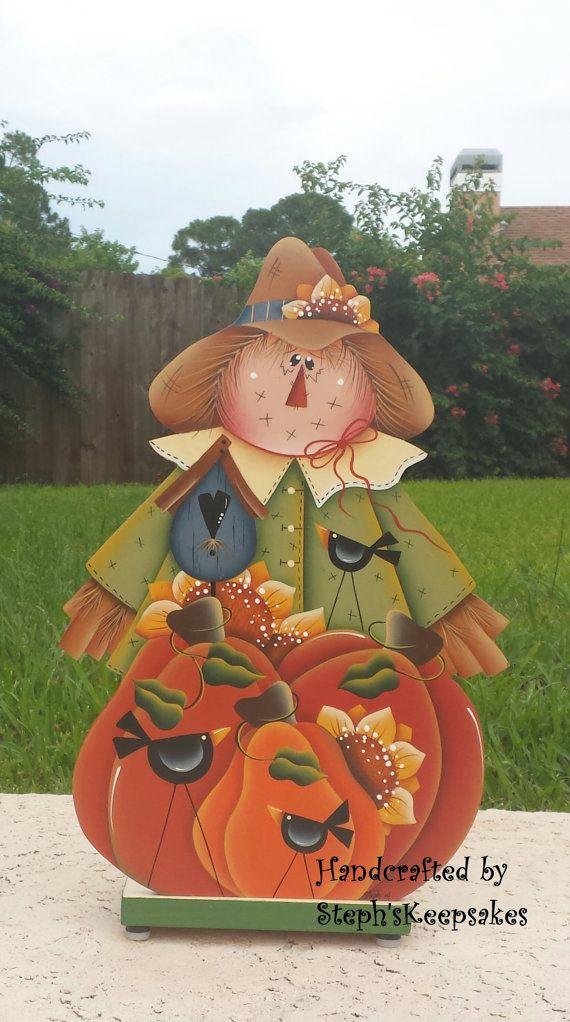 Napkin Holder,Hand Painted Pumpkins