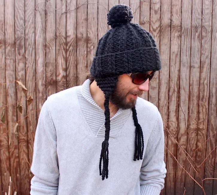 Mens Ear Flap Hat [knitting pattern] – Gina Michele