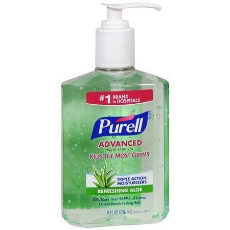 Purell Advanced Hand Sanitizer Refreshing Gel Pump Bottle 8 Fl