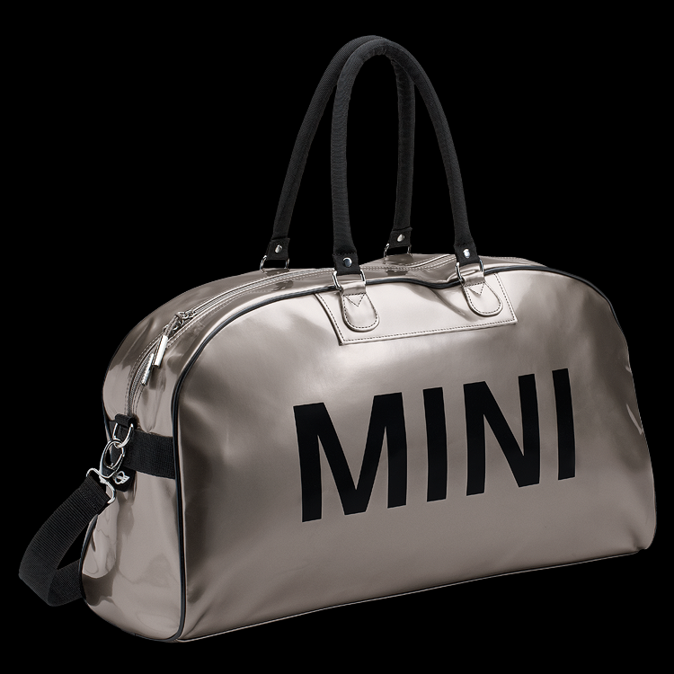 Bag Duffle Retro Mit Silber Schriftzug Big Look Mini bfgvI6Yy7