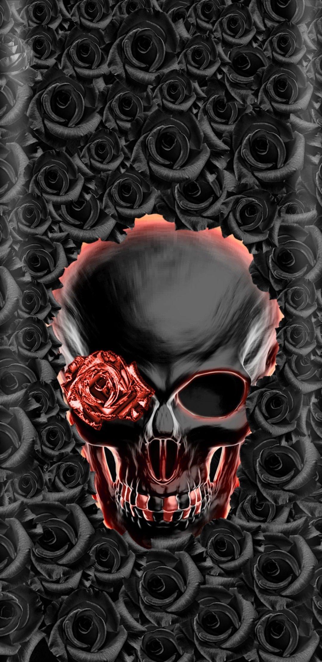 Pin By Liv Upchurch On Skulls Skull Wallpaper Skull