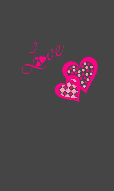 LuvMyEvo Hearts Winter Pretty Phone WallpaperGrey