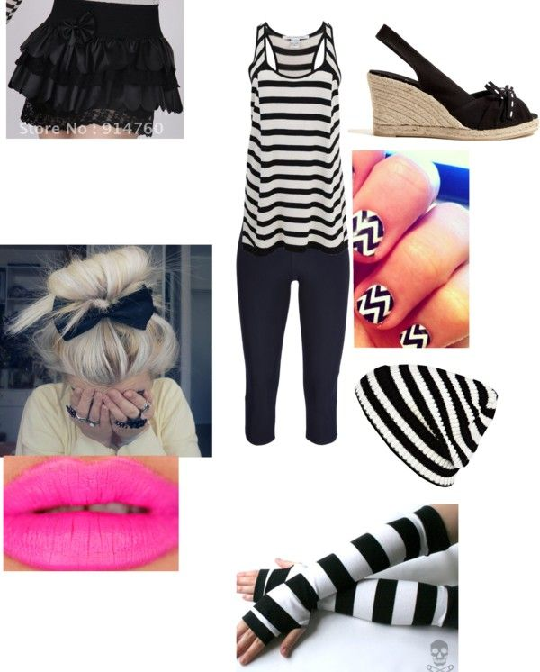 """""""Stripes :)"""" by dianaguzman19 ❤ liked on Polyvore"""
