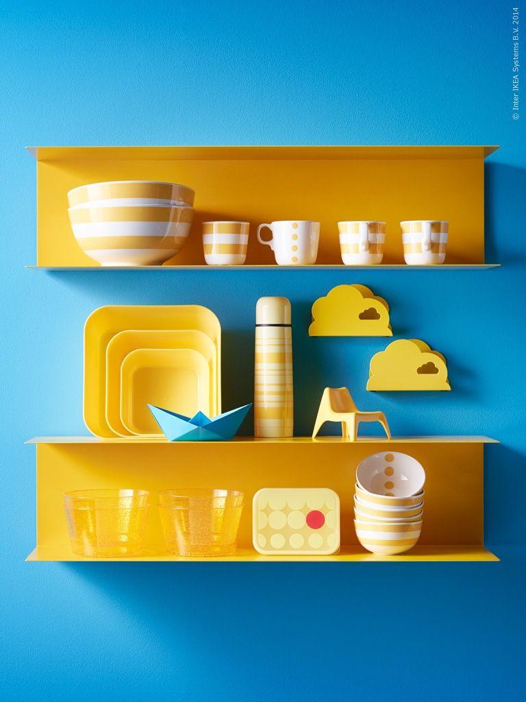 Ikea steel shelves Botkyrka yellow | kitchen | Pinterest | Ikea ...