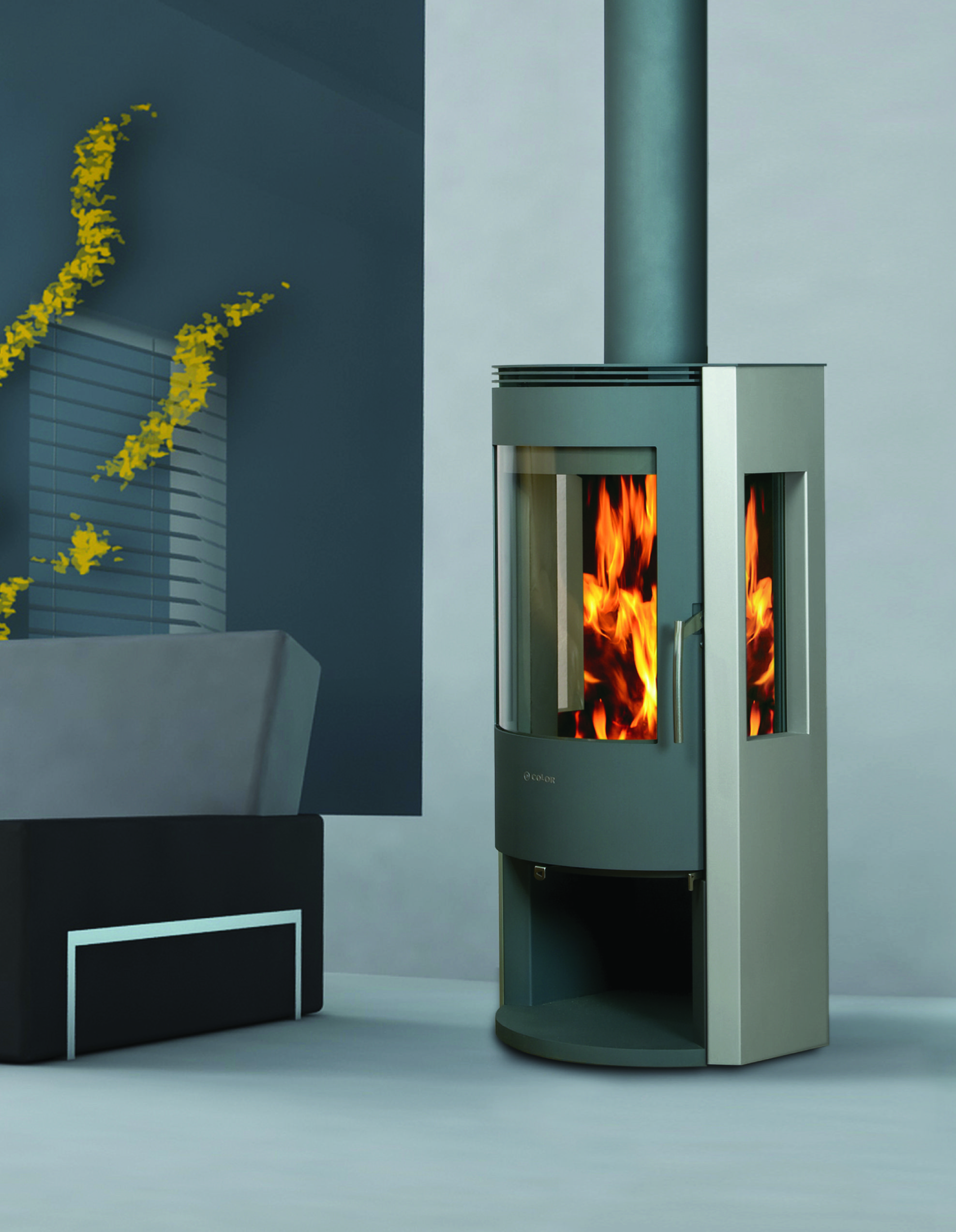 a3 arena 3 sided wood burning stove fiamma fireplaces pinterest