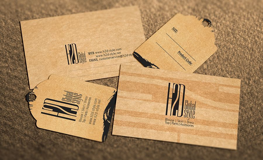 Fashion Shop, Brown, Recycle Paper, Vintage, Retro, Business Card ...