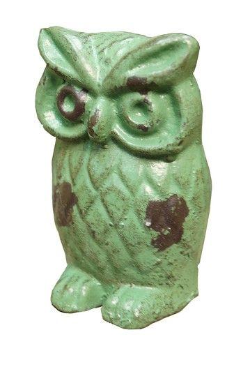 Green Cast Iron Owl by VIP International on @HauteLook
