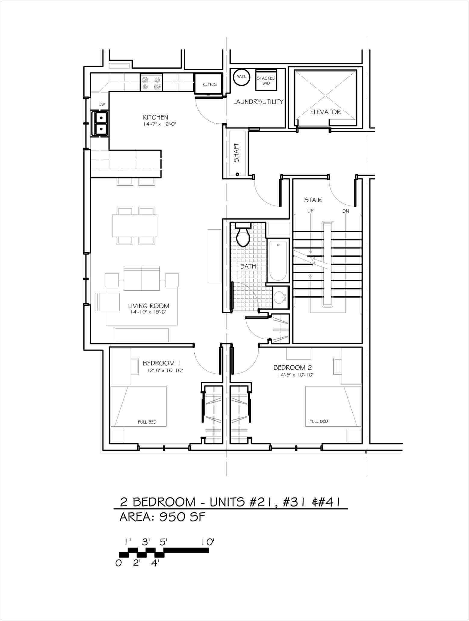 2 Bedroom 2 Bath Apartment Floor Plans Apartment Floor Plans