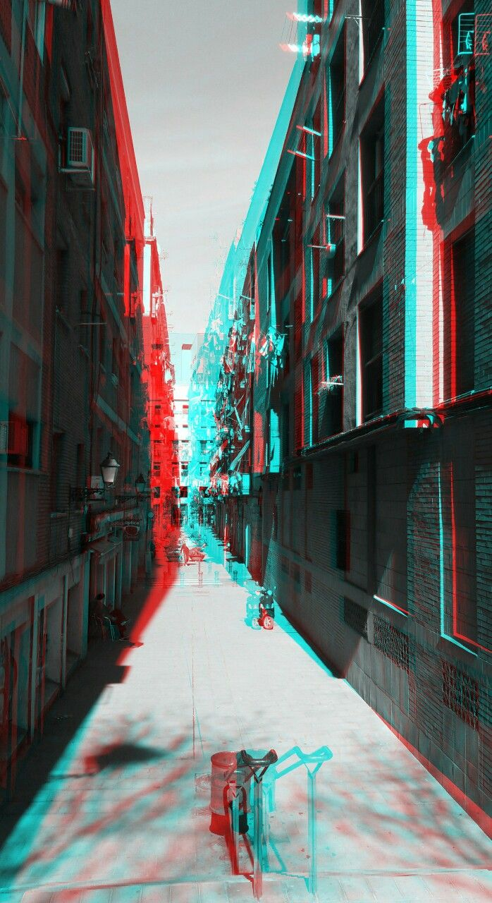 Anaglyphe Allerweltsbilder Glitch Wallpaper Art Wallpaper