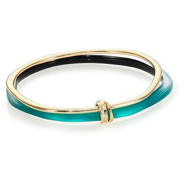 Alexis Bittar Sport Deco Lucite & Liquid Metal Ringed Bangle Bracelet... (€115) ❤ liked on Polyvore