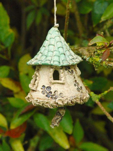 Gartendeko aus ton  Keramik Garten Windspiel mit Treibholz Garten Deko | Bird houses ...