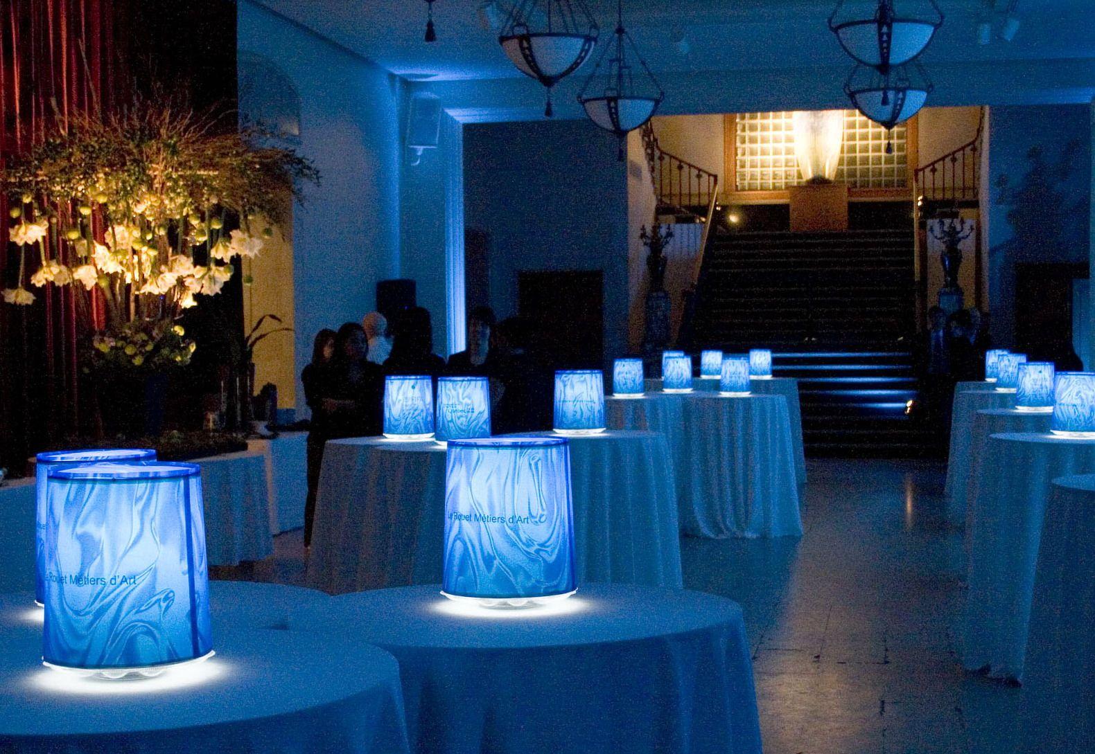Luz Ambiance centres de table lumineux personnalisés www ...