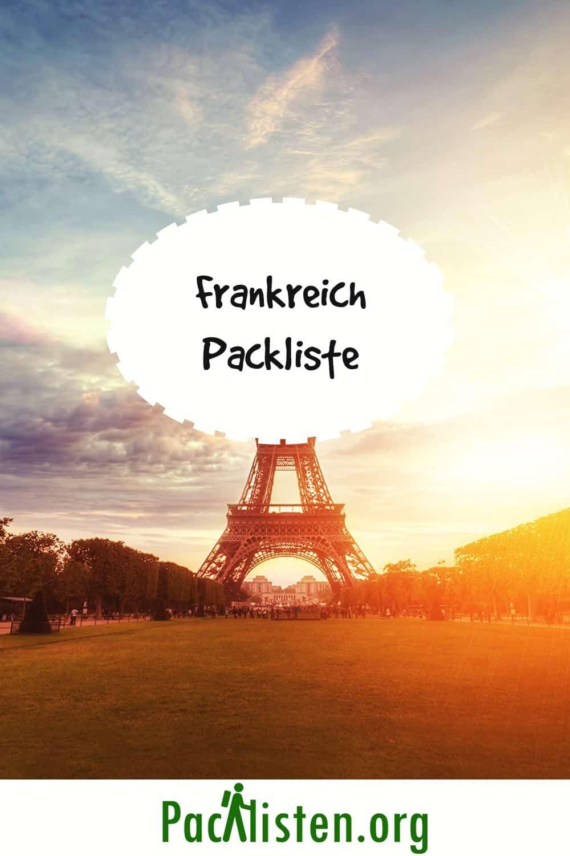 Packliste Frankreich In 2020 Packliste Packen Frankreich
