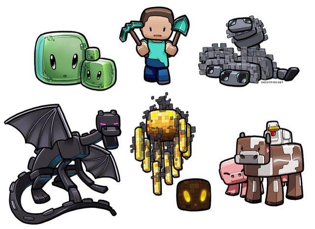 This Is A Chibi Minecraft Wallpaper That I Think Is Soooooo