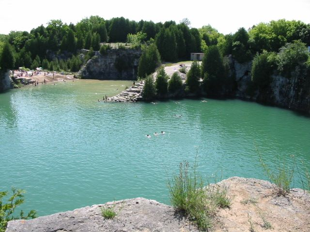 Elora quarry pool elora ontario canada international - Swimming pools in hamilton ontario ...