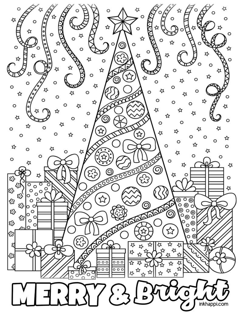 Christmas Coloring Pages And Some Fun Christmas Jokes Inkhappi Christmas Coloring Sheets Christmas Coloring Pages Christmas Colors